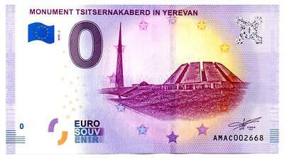 Billet Touristique - 0 Euro - Arménie - Erevan (2019-1)