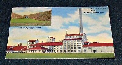 Crystal Sugar Factory, East Grand Forks, Minnesota Advertising Vintage Postcard