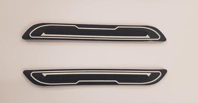 2 X BLACK RUBBER DOOR MIRROR GUARD PROTECTORS WHITE INSERT DG5 MOTOR