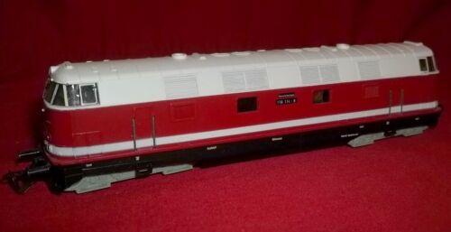 Berliner Bahnen 1:120 model TT Loco BR118 Red & White Diesel Locomotive Train
