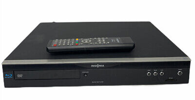 Insignia NS-BRDVD Blu Ray Disc Player HDMI With Remote SD Card Port Tested Black