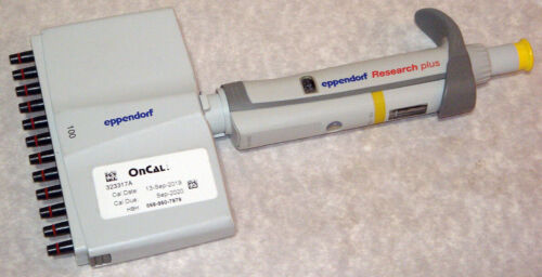 Eppendorf Research Plus 12-Channel Pipette Pipet for 10-100uL, Calibrated