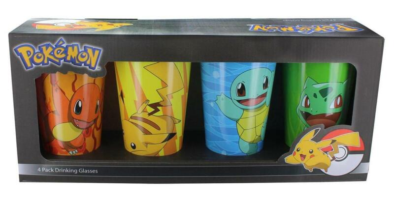 Pokemon Character Pack Pint Glasses, 4-Pack