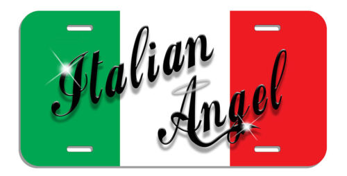 Italian Angel Flag Auto License Plate Italy Personalize Gifts Any Text Or Name