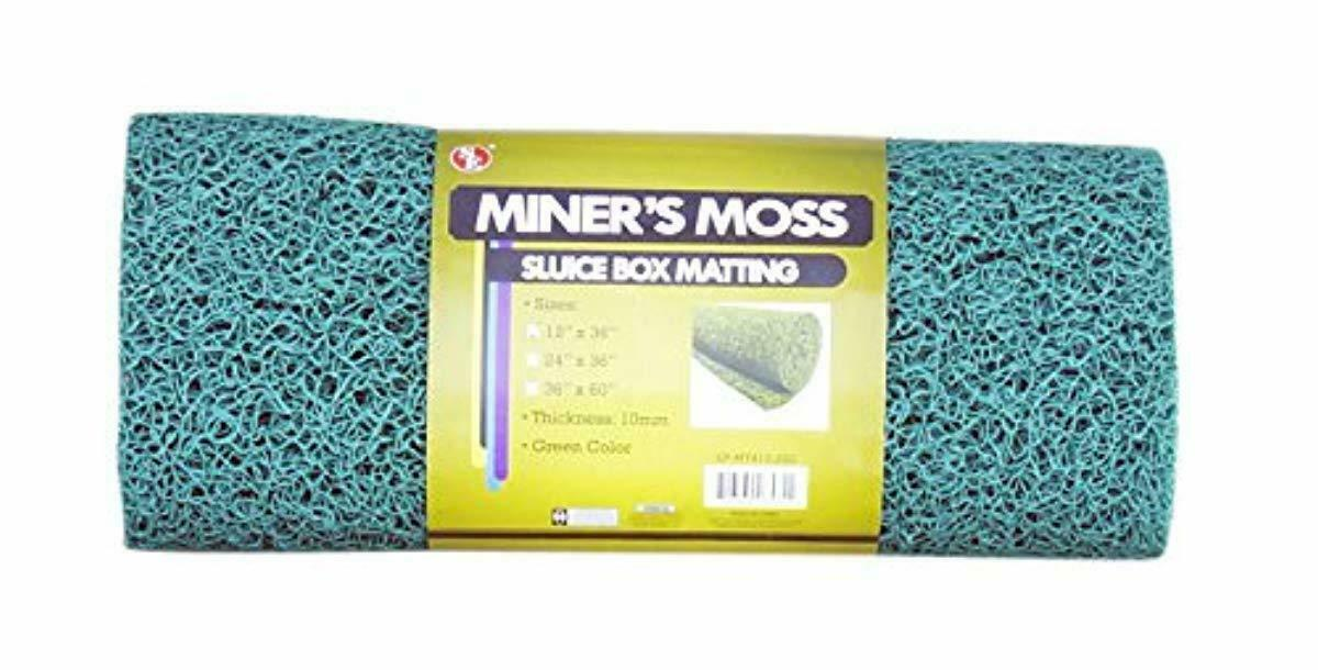 Miners Moss For Gold Sluice Box Matting 10mm Matt Gold
