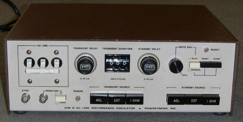 Powertrend Inc. SIM II 2 AC Line Disturbance Simulator