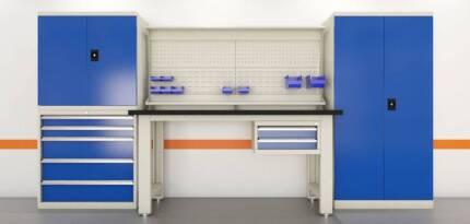 Ultimate Workbench, Backboard, Drawers & Cabinets