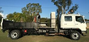 Mitsubishi dual cab Tipper Crane Carry 6ton  excavator mini combo Yatala Gold Coast North Preview