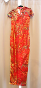 Brand New Gold Tread Chinese Traditional CheongSam Wedding Dres