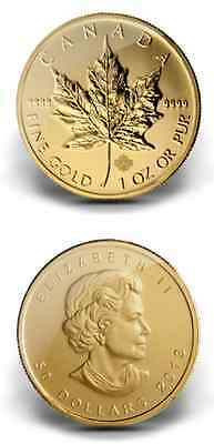 1,000 Canadian Maple Leaf 1-Ounce Gold Coins (Dates of Our Choice)