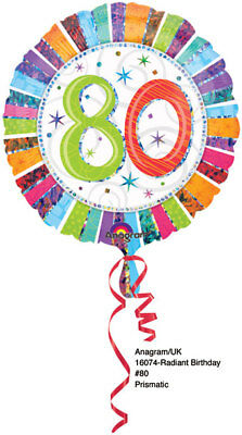 80th Birthday Balloons (80th Birthday Decorations Party Supplies 80 years old Mylar 18