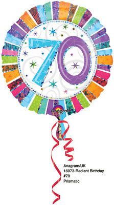 70th Birthday Decorations Party Supplies 70 years old Mylar 18