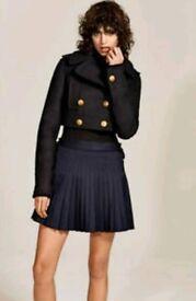 Zara Studio Fancy Item Crop Jacket Coat Double Breast