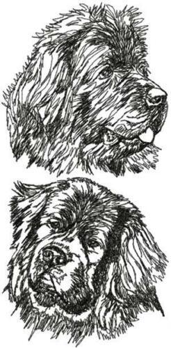 Newfoundland Dog Personalized Embroidered Fleece Stadium Blanket Gift