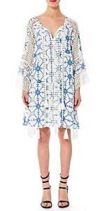 Thurley Silk Tassel Print Dress - Size 8 Prahran Stonnington Area Preview
