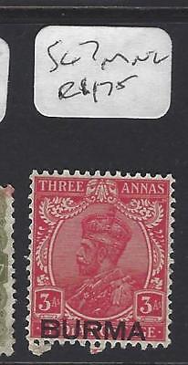 BURMA  (P2109B)  ON INDIA KGV  3A  SG  7  MNG