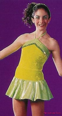 GROUP LOT of 4 - Lime Fluorescent Swing Jazz Tap Dance Costume Adult M