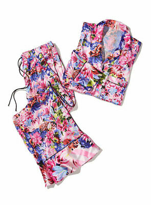 Victoria's Secret by Mary Katrantzou Floral Sleepwear Satin PJ Set Sz/Small NEW!