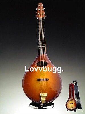 """Lovvbugg Mini Mandolin w Case for 18"""" American Girl Doll Accessory"""