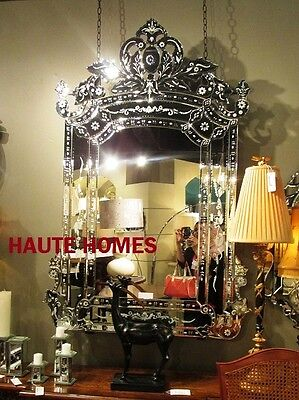 "NEW DESIGNER STUNNING 58"" VENETIAN ARCH ETCH ENGRAVE ORNATE Wall MANTEL Mirror"