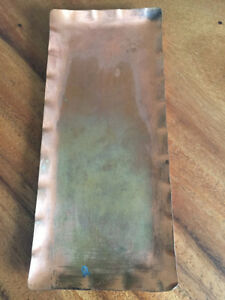 W.G. Kauders Vintage blank copper wall plaque - Germany