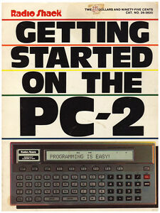 GETTING STARTED ON THE PC-2 1983 MANUAL (RADIO SHACK)