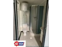 Sanitary container / toilet container / double toilet container with shower 3.2 x 2.0 m