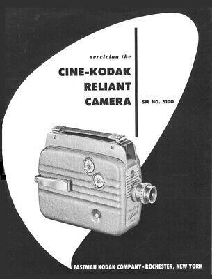 Cine Kodak Reliant Movie Camera Service & Repair Manual Reprint for sale  Shipping to India