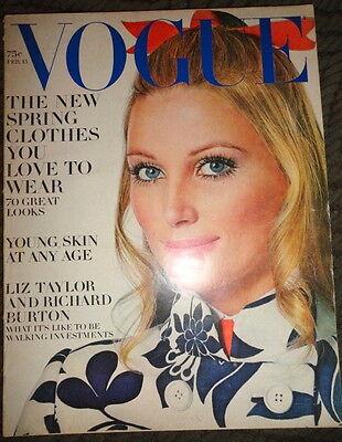 Vintage Vogue 1969 fashion David Bailey Irving Penn Penelope Tree Martha Laycock
