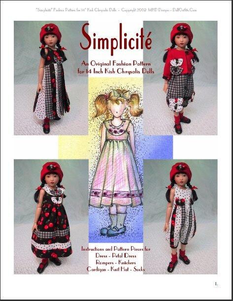 """Simplicité"" Fashion Pattern for 14 Inch Kish Chrysalis"