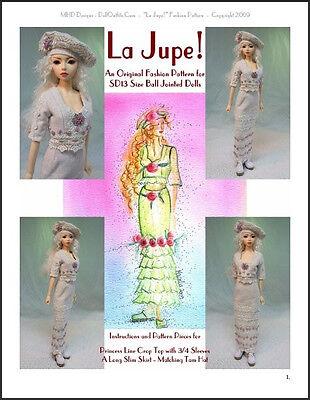 """La Jupe"" 24"" (60 cm) BJD Ball Jointed Doll Fashion Clothing Pattern"