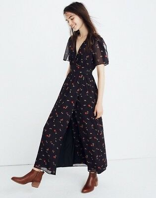 Madewell NWT Tulip-Sleeve Maxi Dress in Sweet Blossoms, j8523, (Tulip Sleeve Dress)