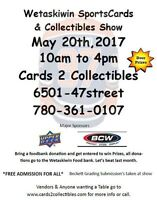 Sports Cards & Collectibles Show Free Admission Sat May 20th