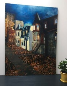 Original oil on canvas artwork by a Montreal artist 36 x 48