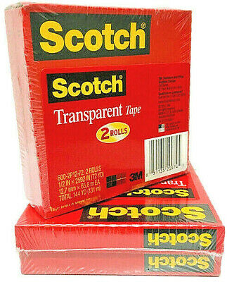 Scotch -- Transparent Tape -- Photo Safe -- X 72-yd -- 600-2p12-72 -- 4-pack