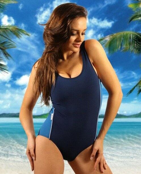 Schwimmanzug Damen Einteiler Badeanzug Bademode Formbadeanzug Strand Gr. 42 - 50