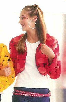 Red BRATS Jacket Faux Fur Pom Pom Dance Hip Hop Costume (Cc Dance Costumes)