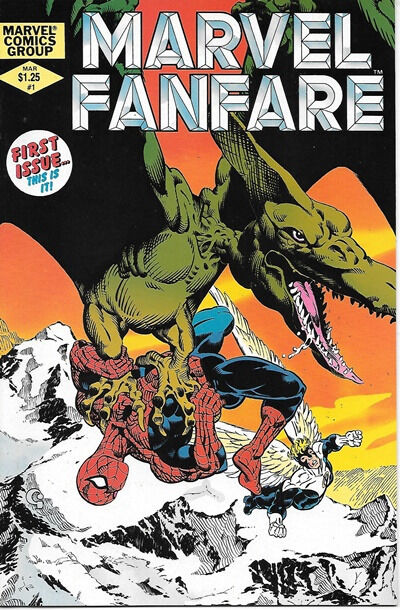 Marvel Fanfare Comic Book #1 Marvel Comics 1982 NEAR MINT NEW UNREAD
