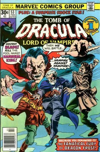 TOMB OF DRACULA #53 F, Gene Colan art, Marvel Comics 1977 Stock Image