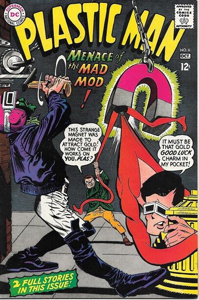 Plastic Man Comic Book #6, DC Comics 1967 VERY FINE-