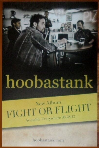 HOOBASTANK Fight Or Flight Ltd Ed RARE Tour Poster +FREE Alt Hard Rock Poster!
