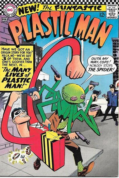 Plastic Man Comic Book #2, DC Comics 1967 VERY FINE+