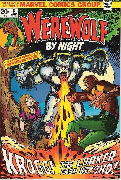 Werewolf By Night Comic Book #8, Marvel Comics 1973 VERY FINE+