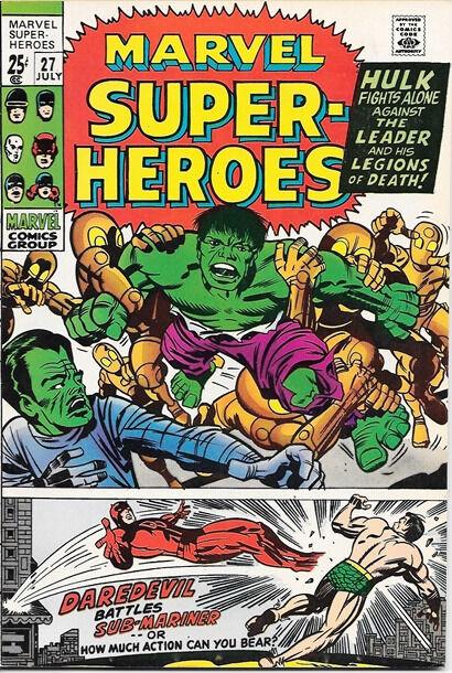 Marvel Super-Heroes Comic Book #27, Marvel Comics 1970 VERY FINE/NEAR MINT