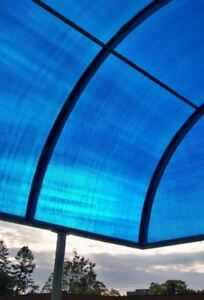 "1/2"" blue see through corrugated polycarbonate sheets"