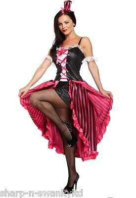 Donna Burlesque Sexy Can Can Ragazza Addio Al Nubilato Costume Halloween Vestito