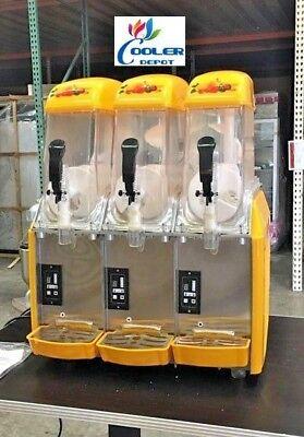 New 3 Flavor Dispenser Frozen Slushie Machine Icee Slush Puppie Smoothie Maker