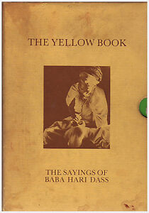 THE YELLOW BOOK: The Sayings of Baba Hari Dass (Rare 1st Edition