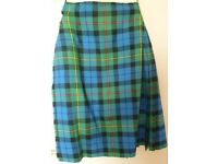 Traditional tartan kilt 100% wool handmade in Scotland