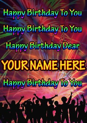 (Birthday Song Greeting Card PIDFD43 Happy Birthday A5 Personalised)